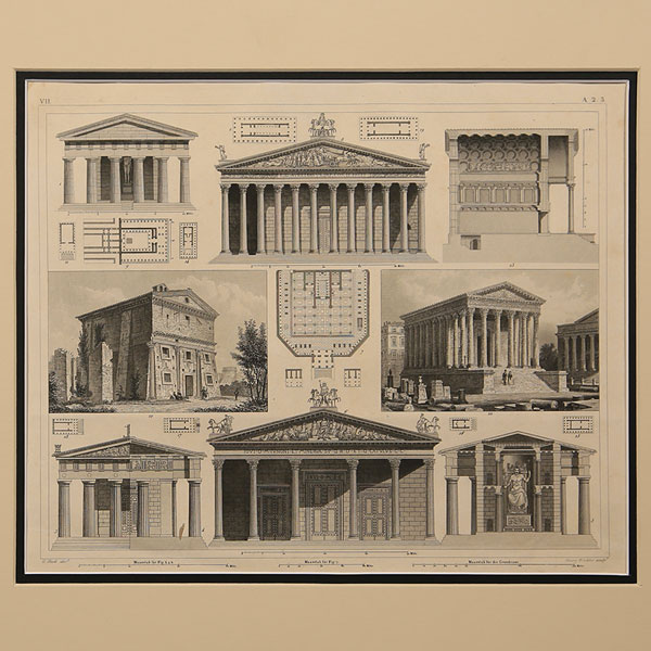 Stampe antiche Architettura e Musica