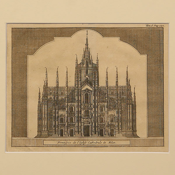 Stampe antiche città di Milano