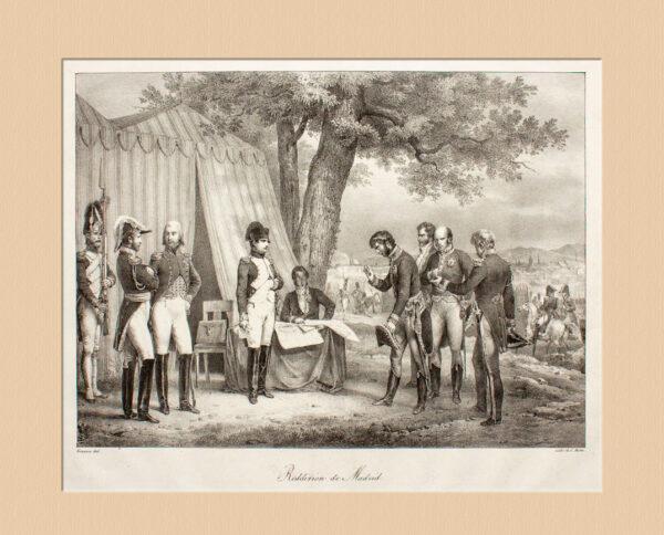 Napoléon Bonaparte Reddition de Madrid