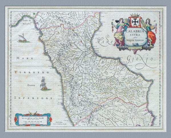 Italy Calabrie Citra olim Magna-Graecia - J. Blaeu