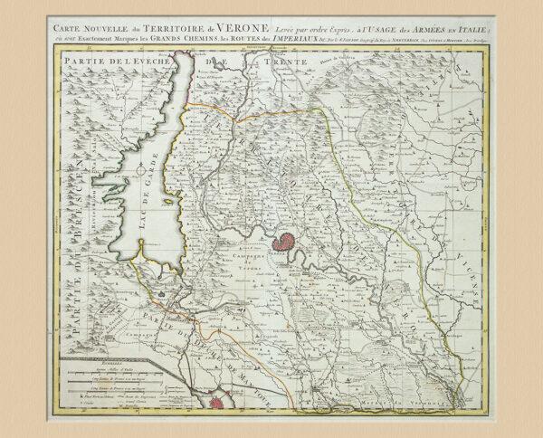 Carte Nouvelle du Territoire de Veronae