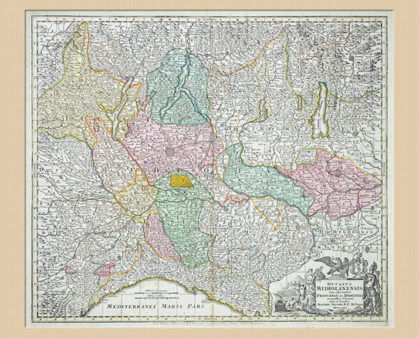 Cartina Ducatus Mediolanensis